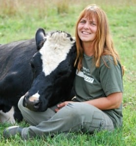 Susie Coston and Sonny at Farm Sanctuary